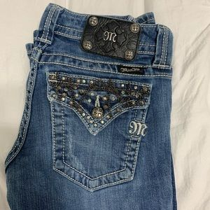 Miss Me Jeans with Rhinestone Chain